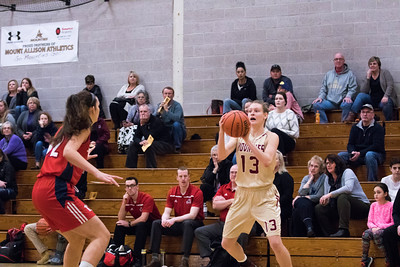 Mounties Roll to 63-50 win over Sea Wolves