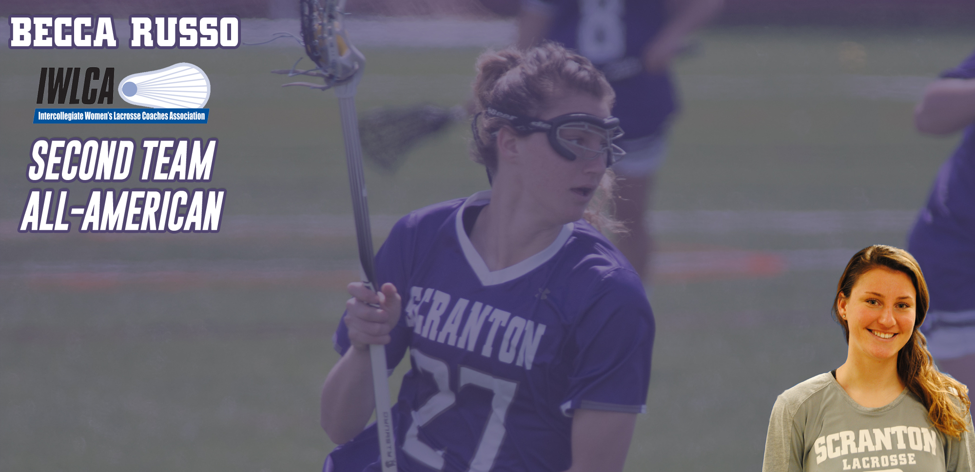 Becca Russo of Women's Lacrosse Named to IWLCA Division III All-American Team