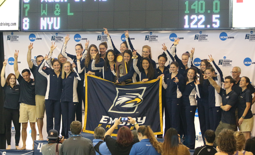 NATIONAL CHAMPIONS!! - Emory Women's Swimming & Diving Extend Reign with Eighth Consecutive Title