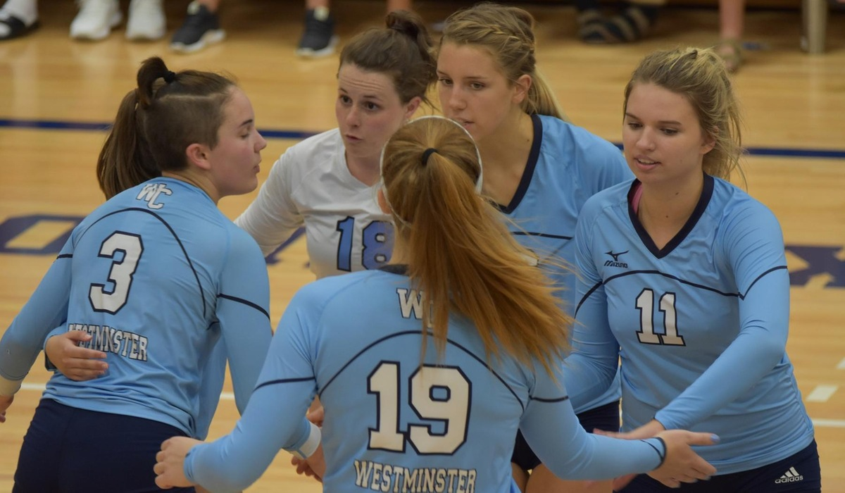 Westminster Volleyball Wins First SLIAC Match