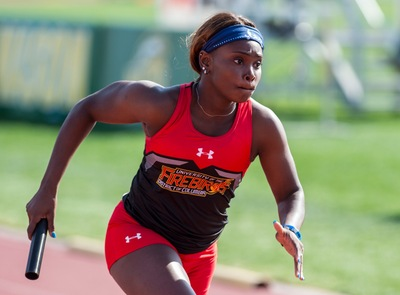 Shannell Hibbert placed second in the 100m.