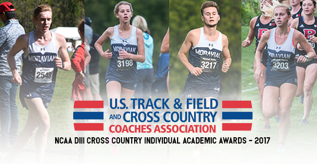 Greg Jaindl '20, Grace Gilbert '21, Gavin Kemery '20 and Katie Mayer '20 receive All-Academic Honors from the USTFCCCA.