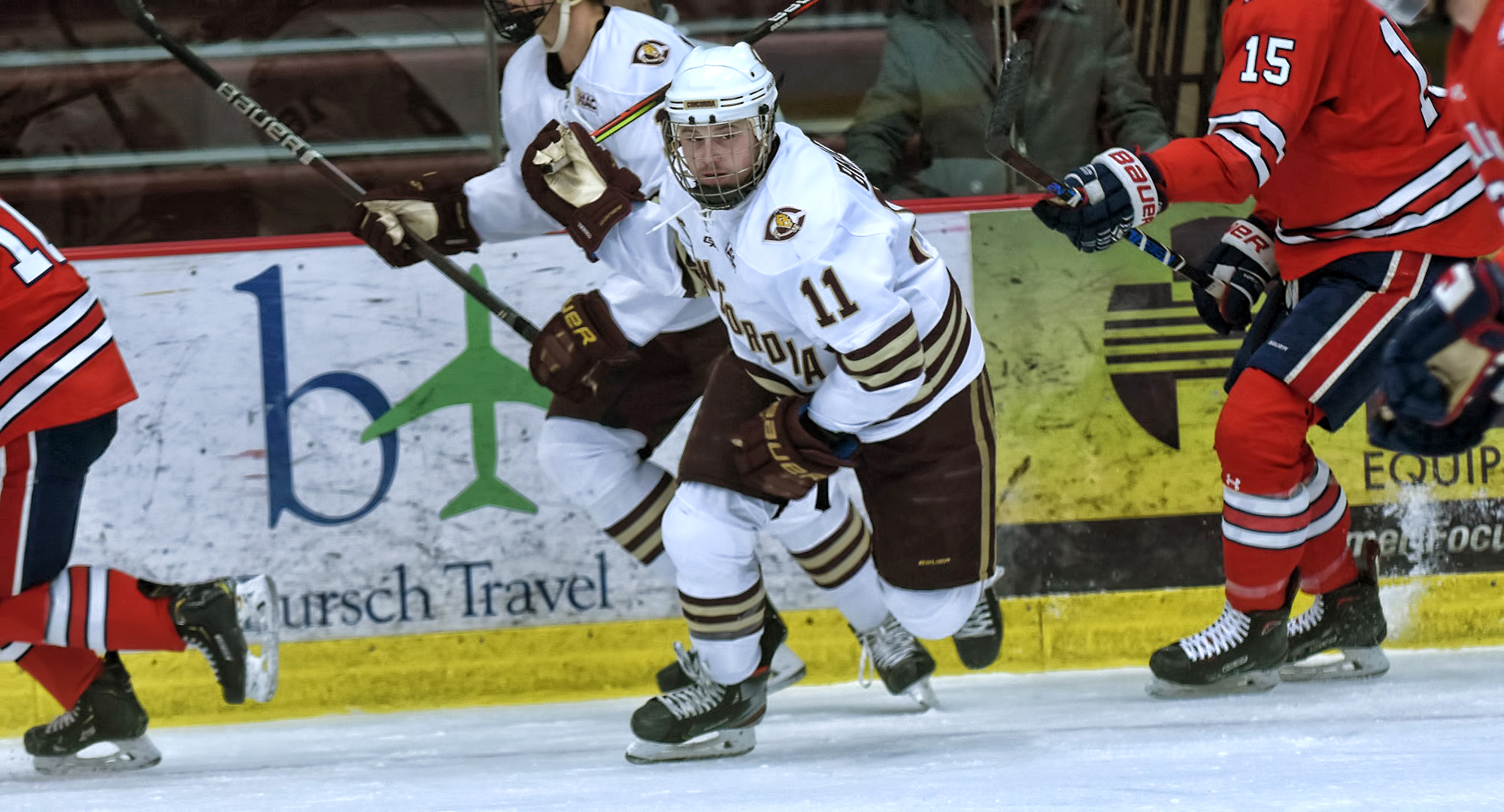Jacen Bracko had a team-high five shots on goal in the Cobbers' series finale with St. Mary's.