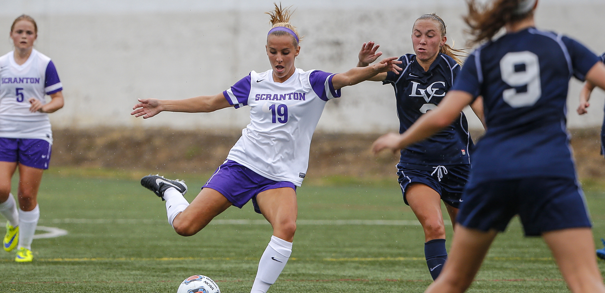 Junior Jamie Hreniuk scored her second goal in as many days in Saturday's win over Kean.