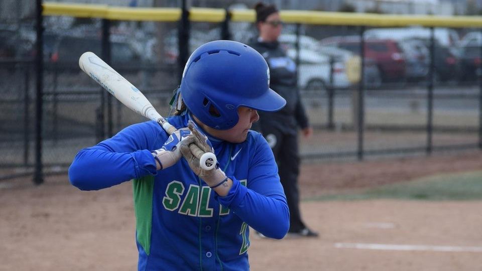 Maddie Machado led the charge with a 5-for-8 day at the plate that included three doubles, a homer and three RBI against the Mariners. (Photo by Ed Habershaw)