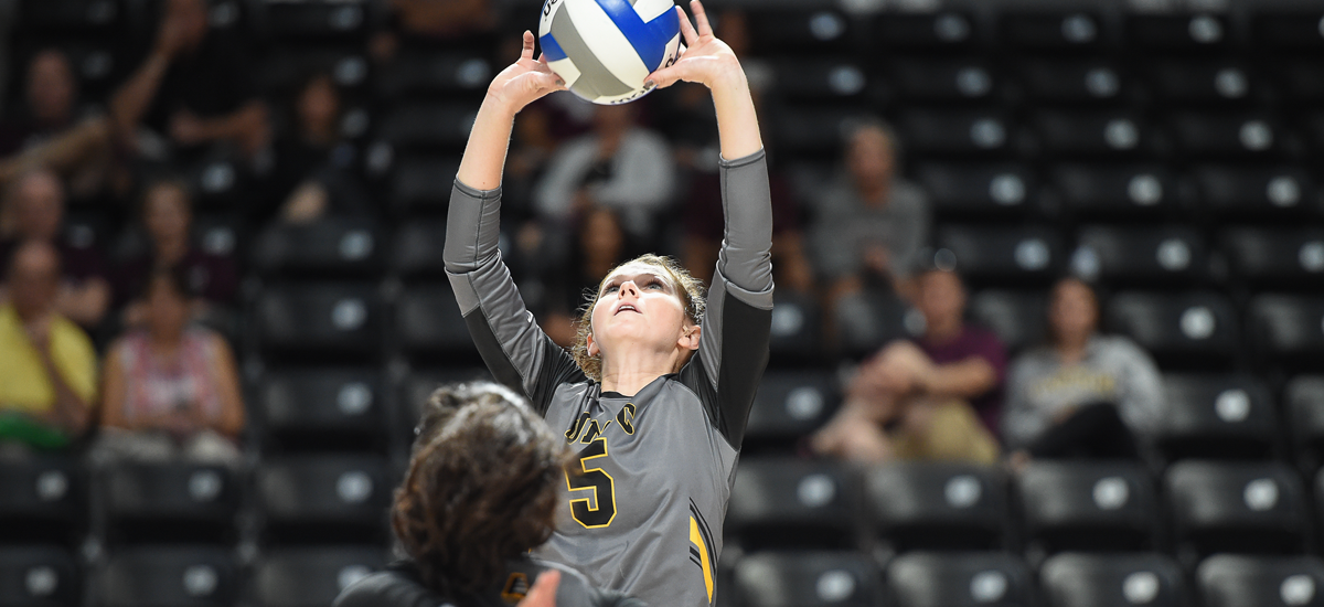 Dunn's 35 Assists and 18 Digs Leads Volleyball to Sweep at Second Place New Hampshire