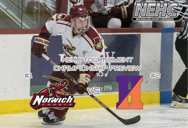 Men's Hockey: #1 Norwich vs. #2 Hobart - NEHC Championship Preview