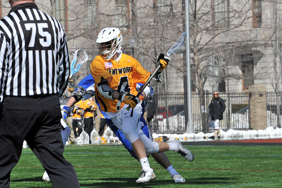 Early Lead Lifts Western New England Past Men's Lacrosse
