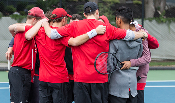 Men's Tennis Drops to Wheaton in NEWMAC Quarterfinal Match