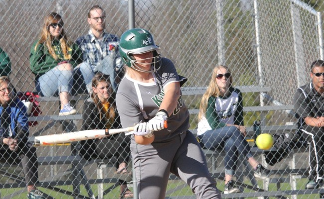 Katelyn Warren (22) had 4 hits and 4 RBIs against Morrisville St. on Friday -- Photo by Ed Webber