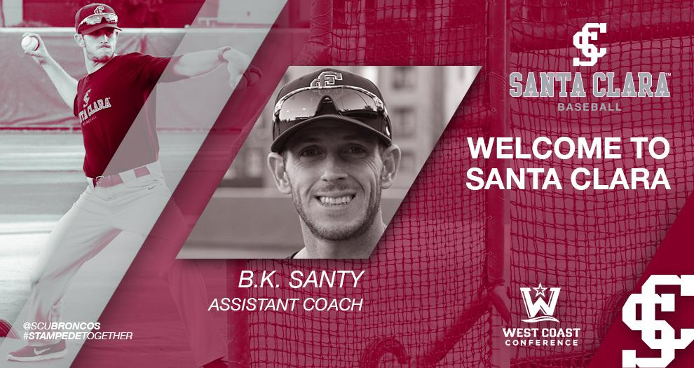 Baseball Announces Hiring of Assistant Coach B.K. Santy