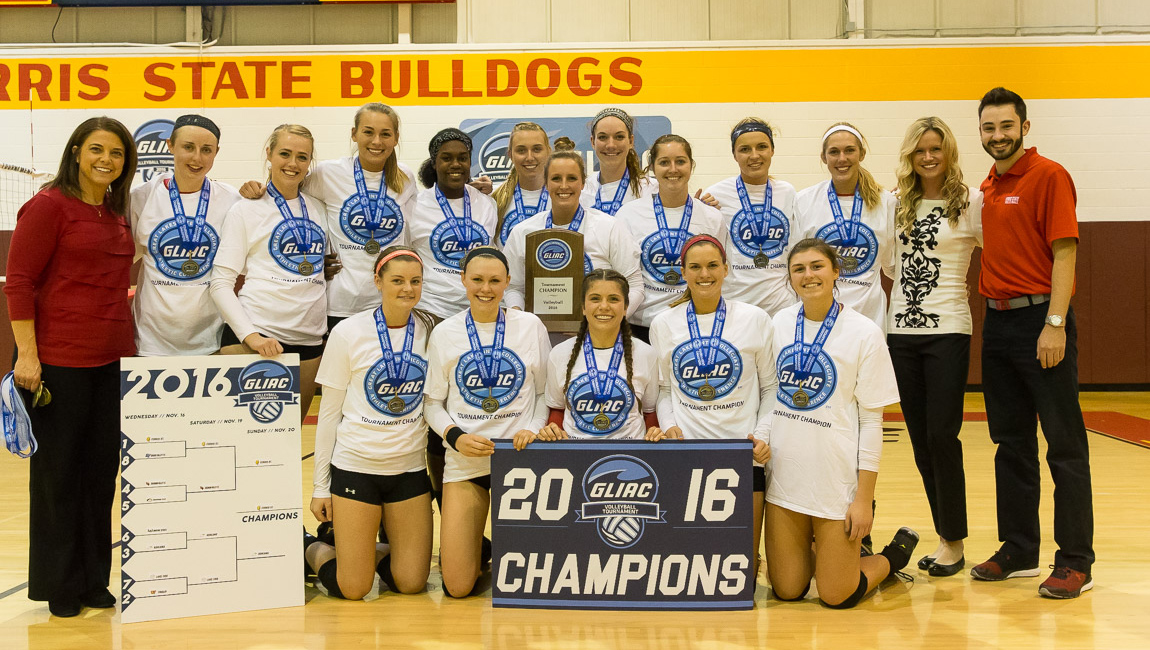 Ferris State Volleyball Captures Third-Straight GLIAC Tournament Championship