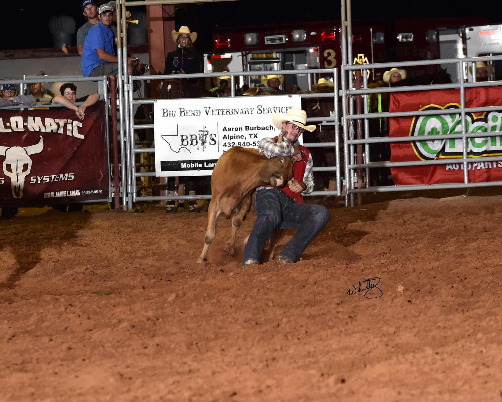 NMJC's Tee McLeod Wins Steer Wrestling at Sul Ross Rodeo