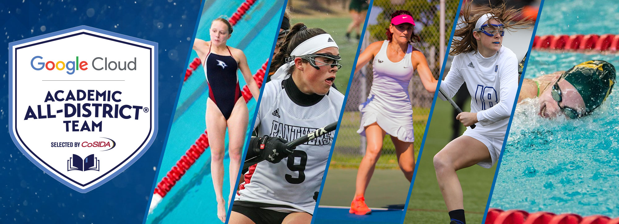 Five Selected Google Cloud Academic All-District Women's At-Large Honorees
