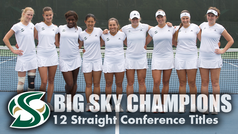 WOMEN'S TENNIS WINS 12TH STRAIGHT BIG SKY TITLE WITH 4-1 WIN OVER MONTANA