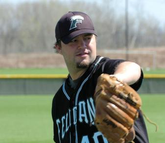 Kenny Monteith kept the Golden Falcons alive with six strong innings on May 11, 2012.