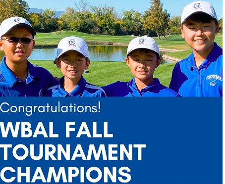 Middle School Golfers Win the WBAL Fall Tournament