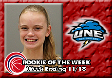 Sabrina Johnson-University of New England, Women's Basketball: Rookie of the Week