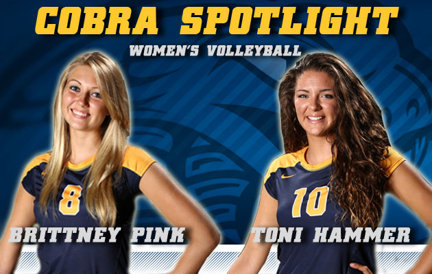 Cobra Spotlight- Brittney Pink & Toni Hammer, Women's Volleyball