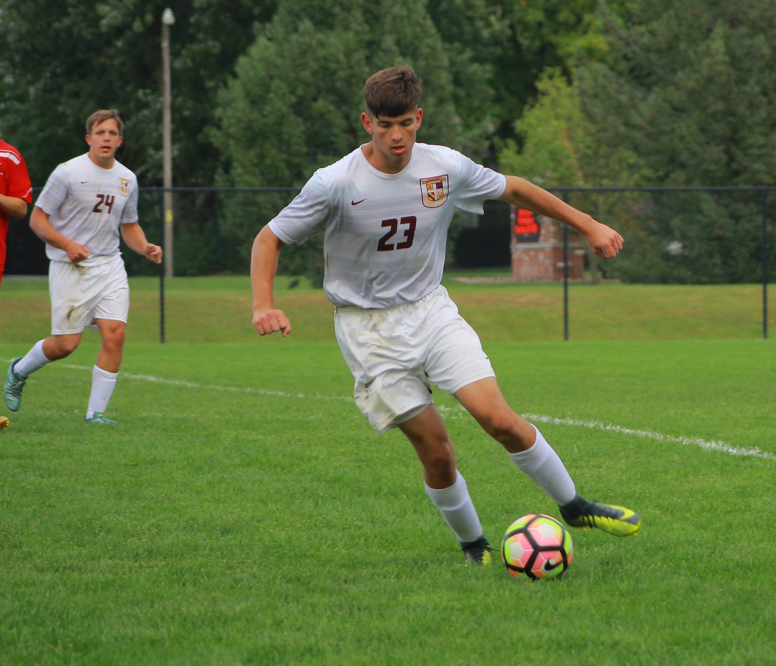 Daniel Guess led the Eagles with two assists in a win over Union College