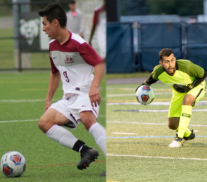 Callejas and Terra picked as Mens Soccer Athletes of the Week