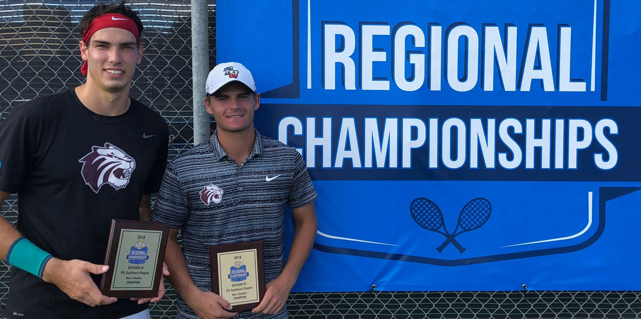 Pitts and Lambeth Win ITA Men's Regional Doubles Title