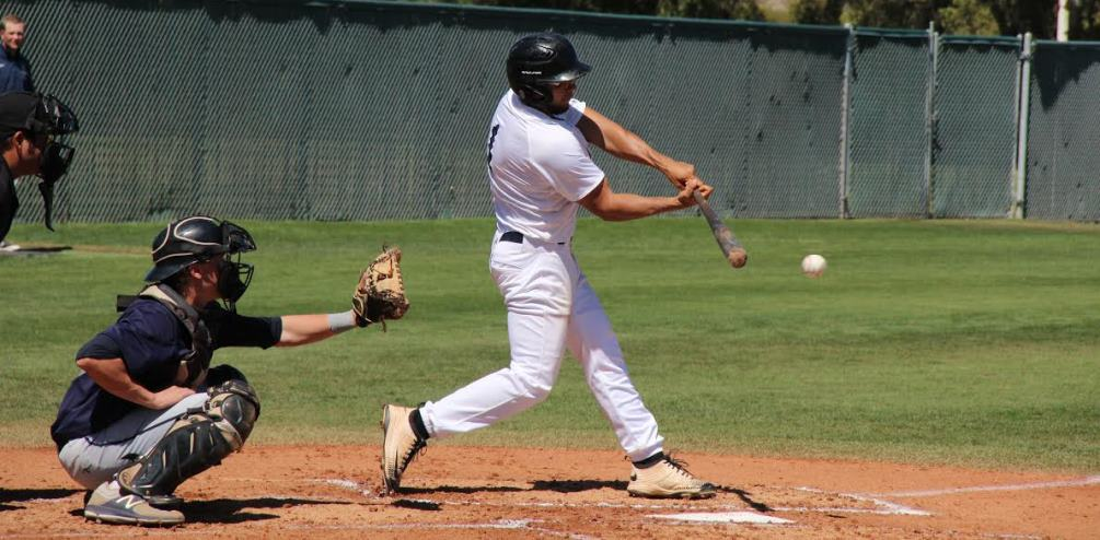 Sophomore Oscar Larranaga (Sunnyside HS) scored four runs as the Aztecs earned a split at Scottsdale Community College. The Aztecs are 15-17 overall and 6-14 in ACCAC play. Photo by Nick Trujillo.