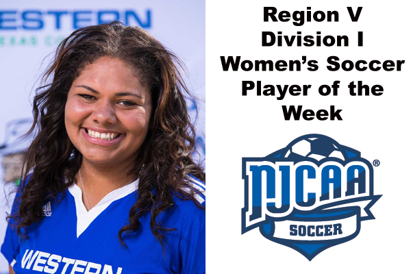 Region V Division I Women's Soccer Player of the Week (Oct. 1-7)