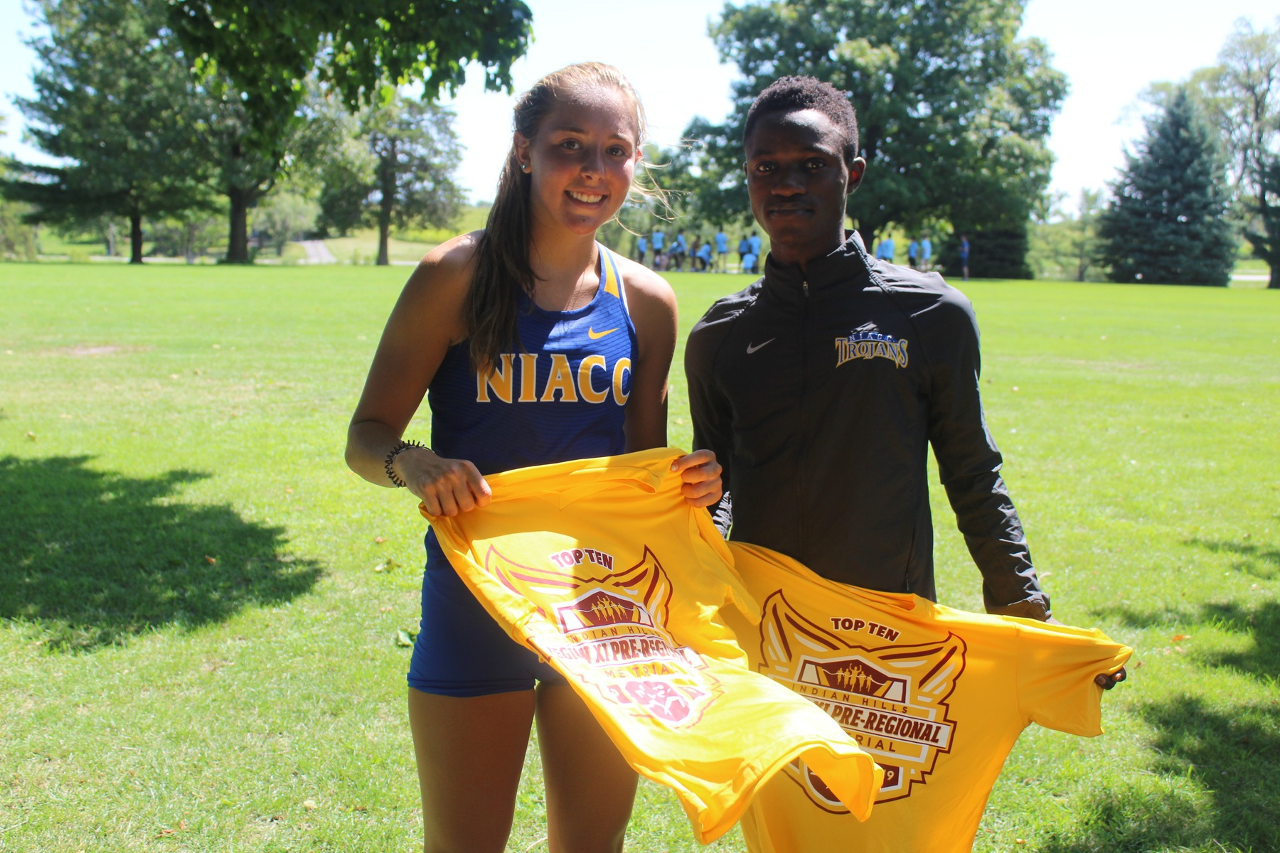 NIACC's Whitney Martin and Janvier Irakoze both placed in the top 10 at Friday's regional time trial in Ottumwa.