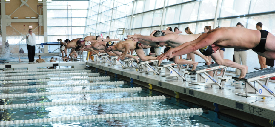 Maroon swimming and diving begins season with quad meet