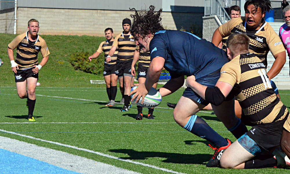 Men's rugby runs away from Conestoga in second half for season opening win