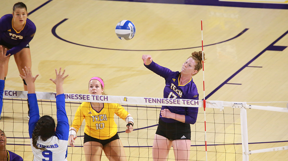 TTU volleyball drops ultra-tight match with Tennessee State, 3-1