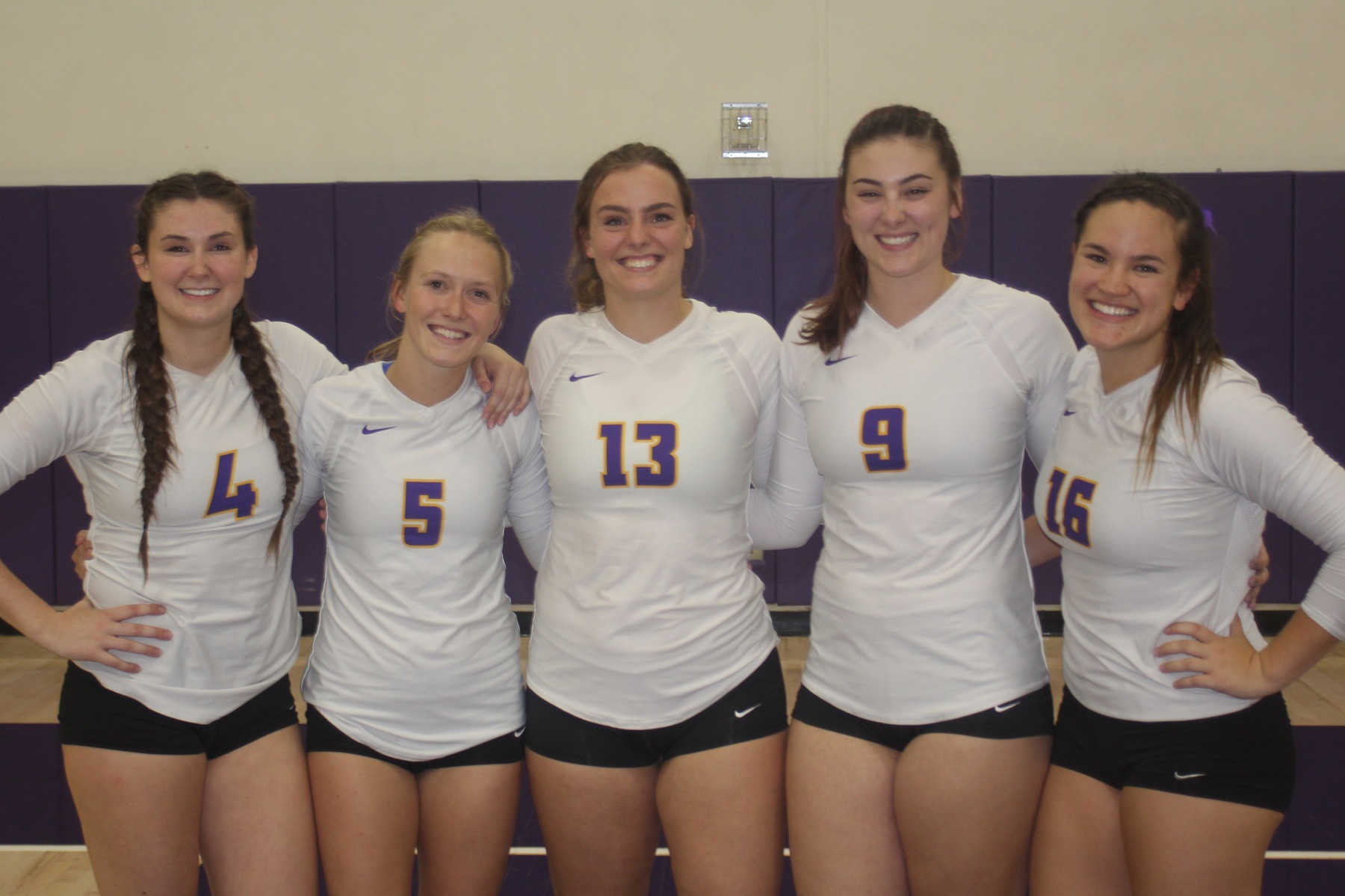 Regals' seniors from left to right: Amanda Roberts, CJ O'Brien, Paris Dosch, Hannah Cantrell and Steph Rolfson.