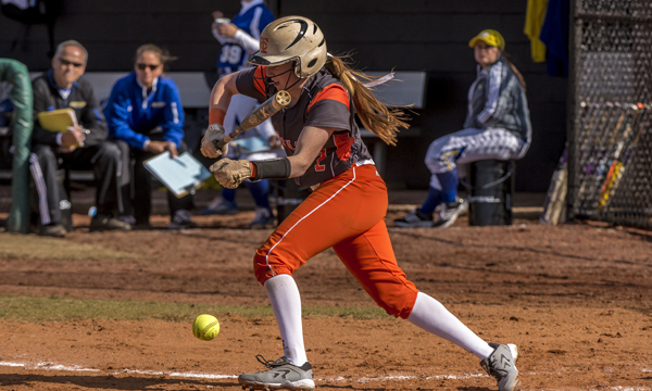 Softball downed twice by Anderson