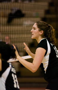 Volleyball suffers 3-1 loss to Wellesley in battle of unbeatens