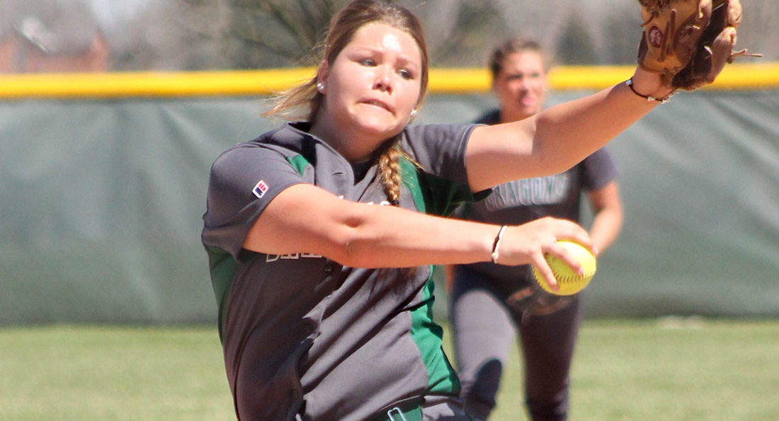 Tiffany Snell tossed a complete game against Mount Olive on Saturday, striking out four while not walking a batter.