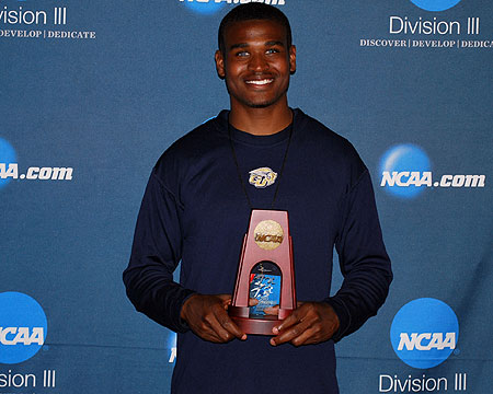 Gallaudet's Darius Flowers finishes 6th in the triple jump at NCAA championships