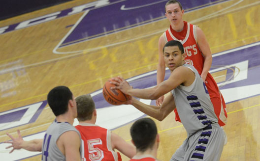 Sophomore guard Sean Cummings scored a career-high 17 points in 16 minutes of action as the 24th-ranked Royals defeated 18th-ranked Cabrini College, 85-65, Tuesday evening at the Long Center.