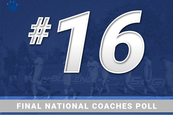 Men's Soccer Ranked No. 16 in Final Coaches Poll