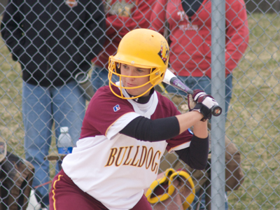 Rachel Wade produced two of Ferris State's three hits versus Gannon.