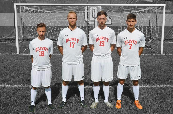 Men's soccer team ties Trine, 4-4