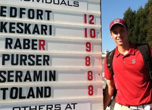 Martin Keskari's 64 Pushes Him Into Second at UOP Invitational