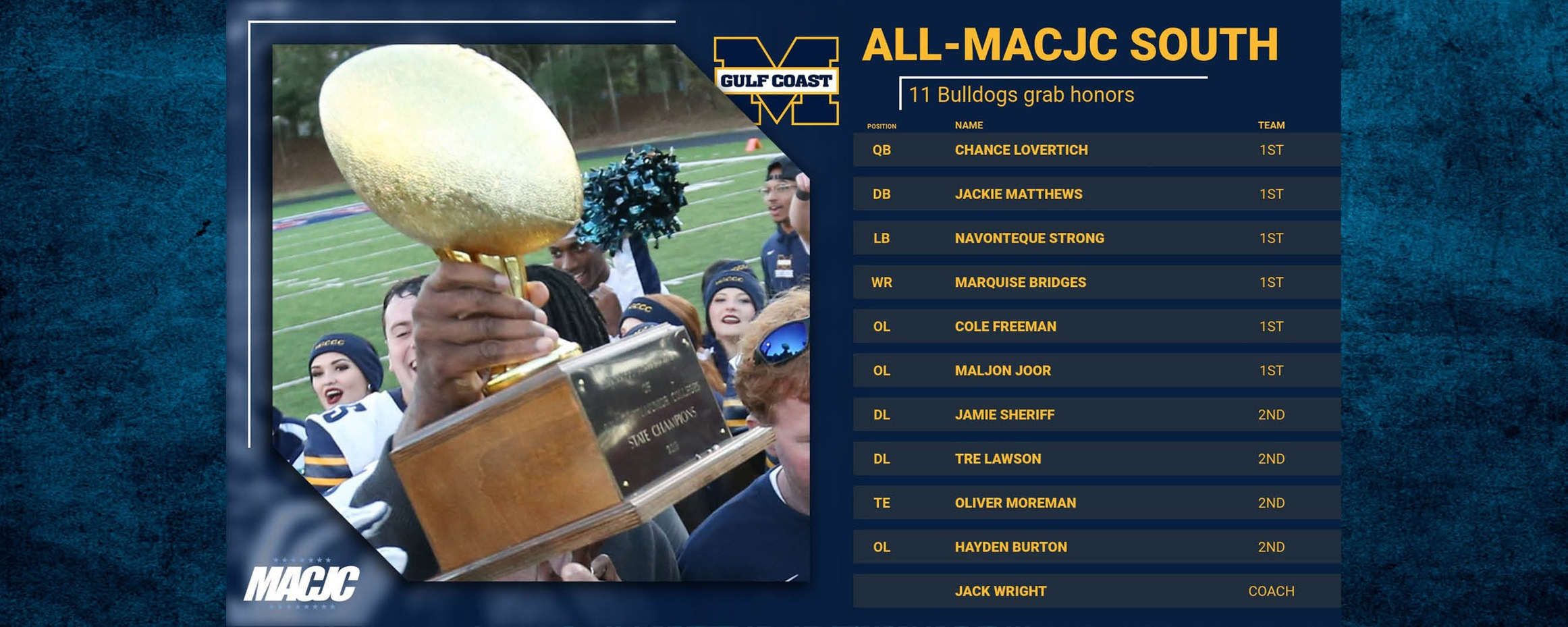 11 pick up All-MACJC South honors