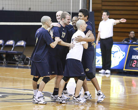 Gallaudet men's volleyball wins first match since the sport was added back to the fold