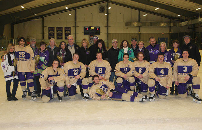 Men's ice hockey falls at home on Senior Day to No. 1 Norwich