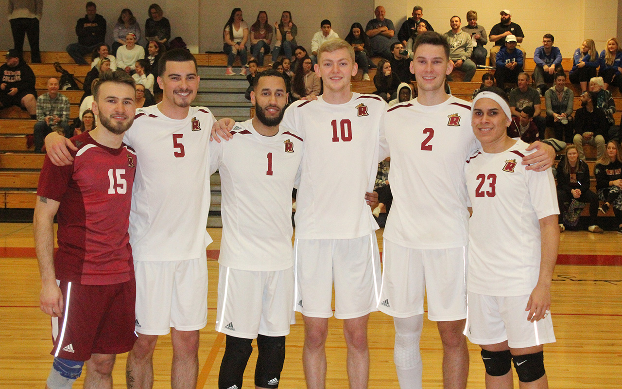Men's Volleyball Honors Seniors, Falls To JWU In Season Finale