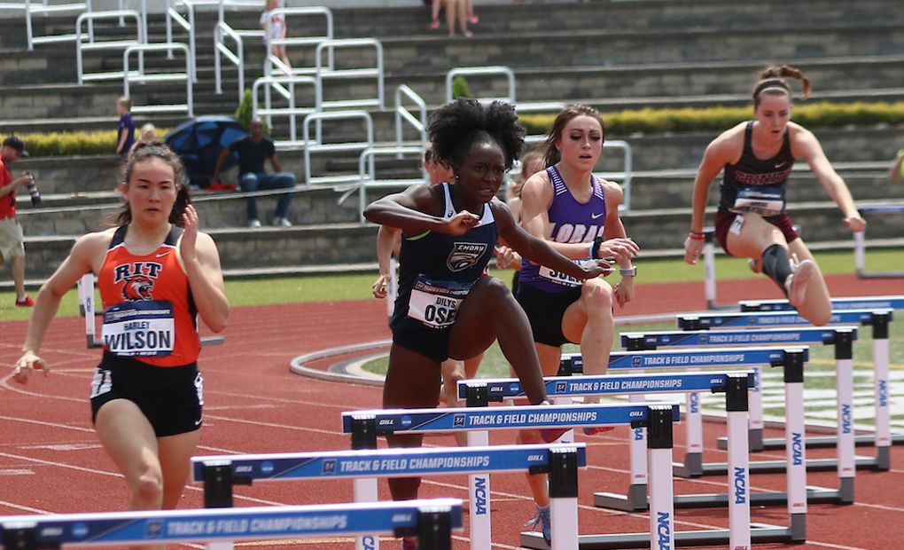 Dilys Osei Named UAA Women's Outdoor Track Athlete of the Week