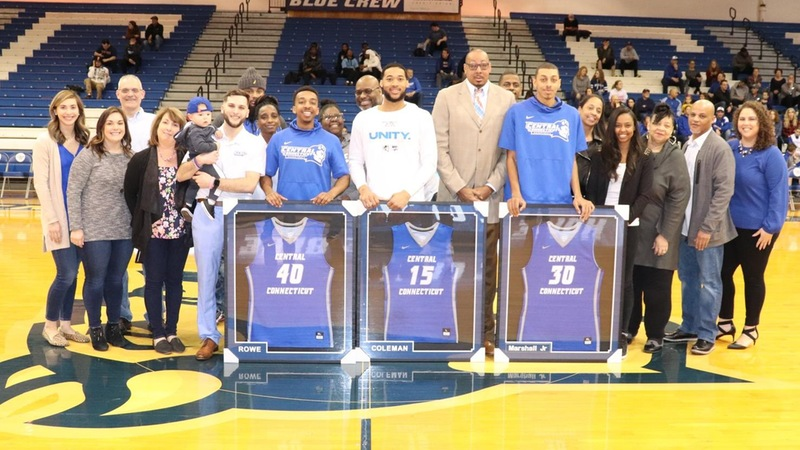 Men's Basketball Honors Seniors Prior to Season Finale Against St. Francis Brooklyn