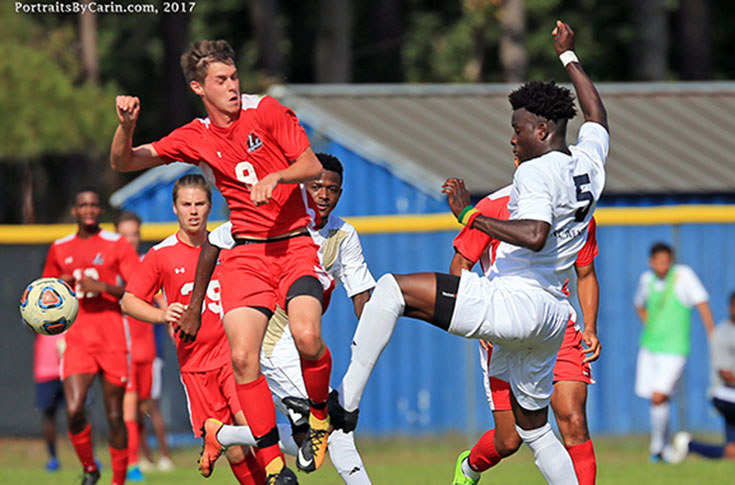 Men's Soccer: East Division-leading N.C. Wesleyan tops Panthers 2-0