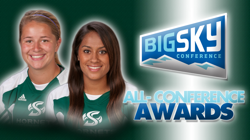 Kassidy Kellogg (left) and Victoria Ramirez were two of eight to earn all-conference honors.